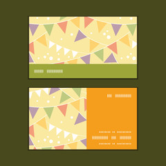 Vector party decorations bunting horizontal stripe frame pattern