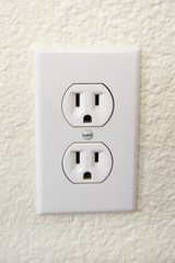 Old electrical Wall Outlet