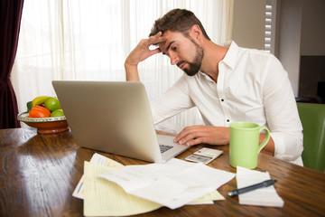Man going through financial problems