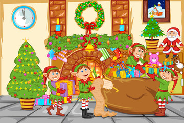 Christmas celebration with Santa
