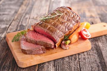 Door stickers Meat roast beef on board
