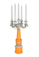 metalic candlestick