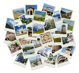 Go Georgia - Central Asia collage with photos of landmarks