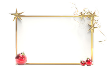 White panel and Christmas decorations