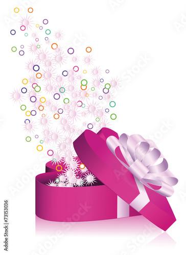 Geschenkpaket Paket Herz Geoffnet Liebe Valentin Weihnachten
