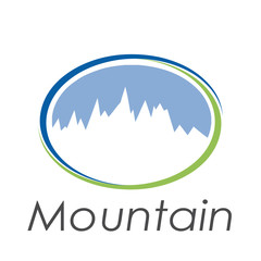 Vector sign abstract mountain