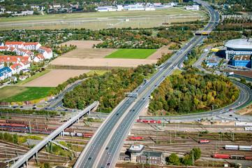 Autobahn über Bahnstrecke Mannheim