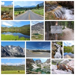 Rocky Mountains, Colorado - photo collage