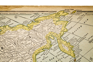 Siberia on a vintage map - 1926