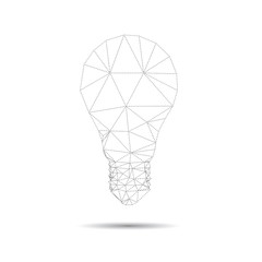 Lightbulb abstract isolated