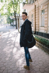 Stylish hipster model