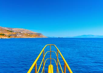 sea view between dodecanese islands in Greece