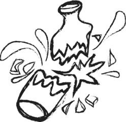 doodle broken bottle