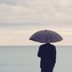Temps de pluie sur la mer
