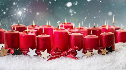 weihnachtskerzen advent