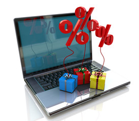 Laptop and gift discounts in Internet
