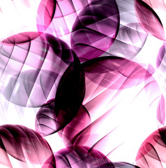 Abstract background with 3d shapes, seamless pattern.