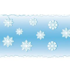 White snow on a blue background, an illyusiration.