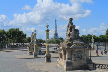 Place de la concorde à Paris, France