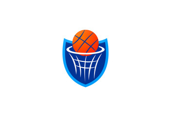 basketball ring sport logo