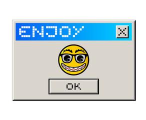Enjoy computer message