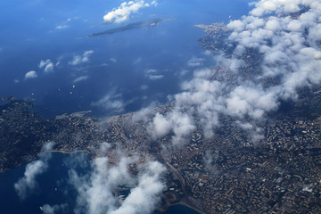 Fototapete - French Riviera, the view from the plane