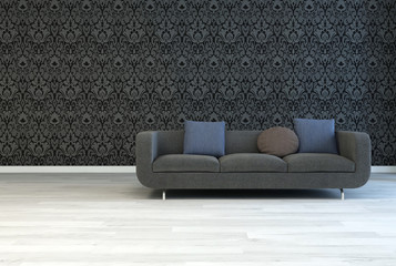 Dark Gray Sofa on an Architectural Lounge Room