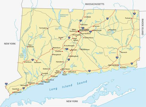 connecticut road map