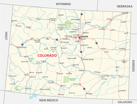 colorado road and national park map