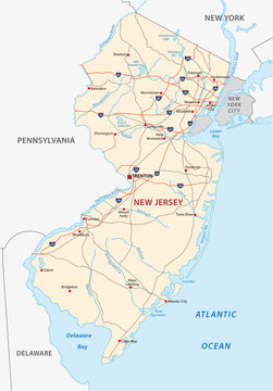 new jersey road map