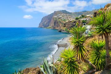 View of Cabo Girao cliff and Camara de Lobos town, Madeira Fototapete