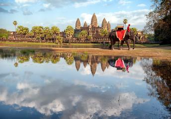 Cambodia, Siem Reap, Angkor wat khmer temple landscape photograp