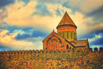 Fotomurales - Svetitskhoveli Cathedral belfry in Mtskheta, Georgia