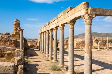 Ruins Roman Capitol Thuburbo Majus, Tunisia