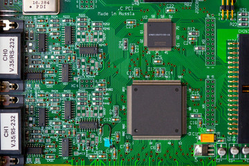 computer board with chips
