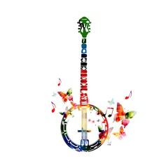 Colorful banjo design