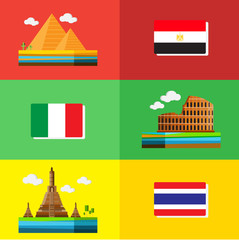 travel design Egypt Italy and Thailand