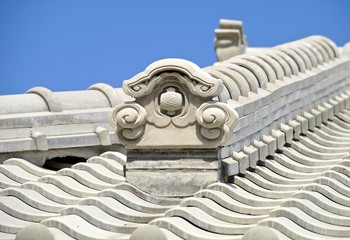 Japanese style of decoration closeup in Taiwan