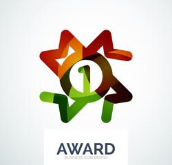 Colorful award business logo