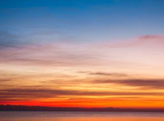 Beautiful Cloudscape Landscape Sunrise From The Beach