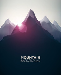 Poster Zwart Mountain Background