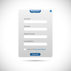 Web Register Panel