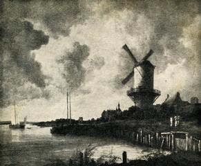 The Windmill at Wijk bij Duurstede (1670, Ruisdael)