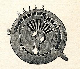 Calculator's pinwheel
