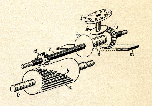 Leibniz wheel and counting wheel