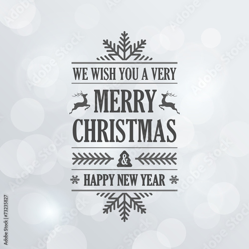 merry christmas vintage retro typography lettering design