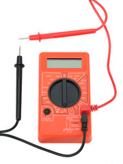 .electro tester red to measure current voltmeter