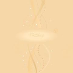 A beautiful beige wedding card