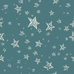 Hand drawn stars pattern