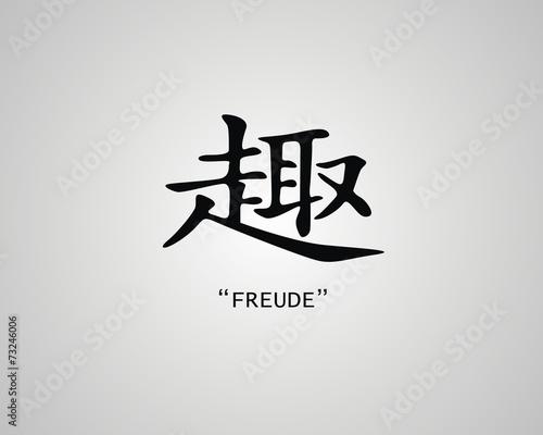 Chinesisches Zeichen Freude